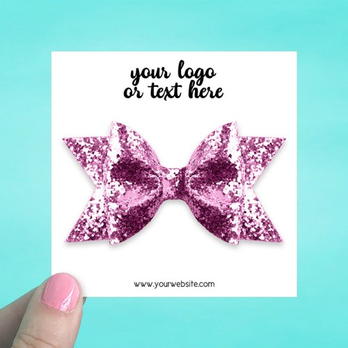 "Set of 34 3.5 x 3.5"" Square Hair Bow Display Cards"
