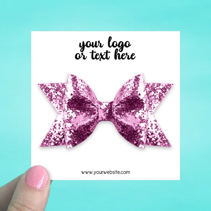 """Set of 34 3.5 x 3.5"""" Square Hair Bow Display Cards"""