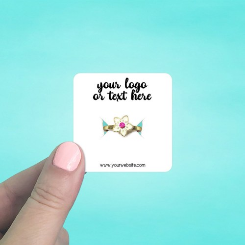 """Set of 115 2 x 2"""" Rounded Square Ring Display Cards"""