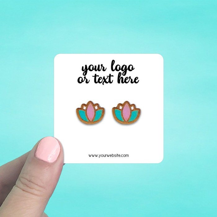 """Set of 70 2.5 x 2.5"""" Rounded Square Earring Display Cards"""