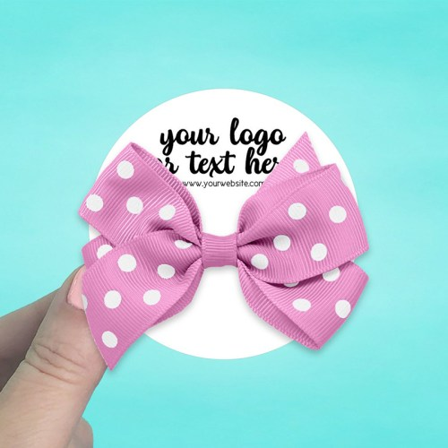 "Set of 42 3 x 3"" Circle Hair Bow Display Cards"