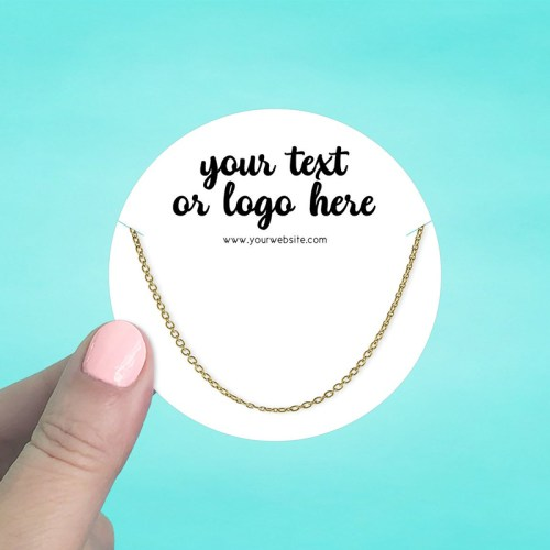 "Set of 42 3 x 3"" Circle Necklace Display Cards"
