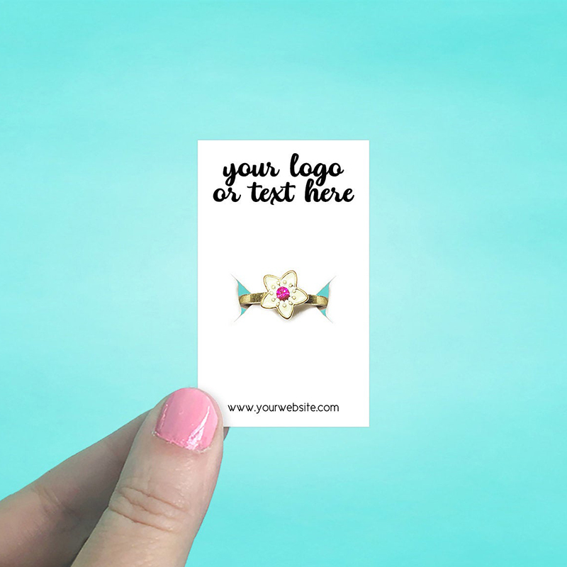 """Set of 105 1.5 x 2.5"""" Rectangle Ring Display Cards"""