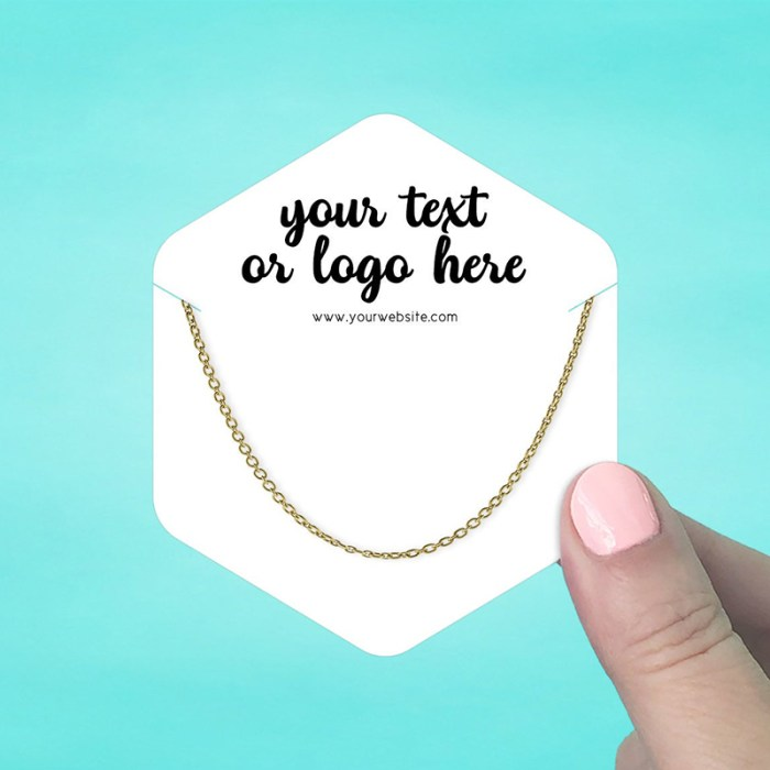 """Set of 42 3 x 3.5"""" Hexagon Necklace Display Cards"""