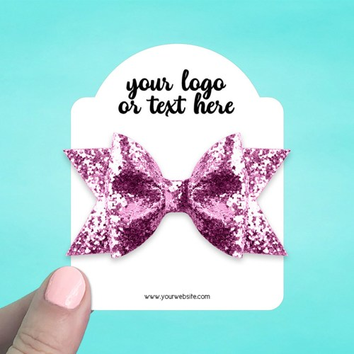 """Set of 34 3 x 3.75"""" Dome Top Hair Bow Display Cards"""