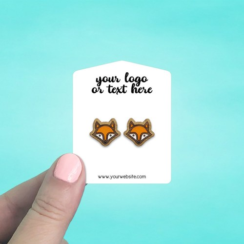"Set of 86 2 x 2.5"" Tent Top Earring Display Cards"