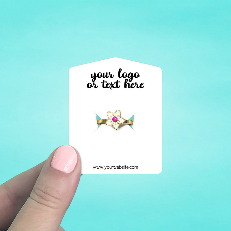 """Set of 86 2 x 2.5"""" Tent Top Ring Display Cards"""