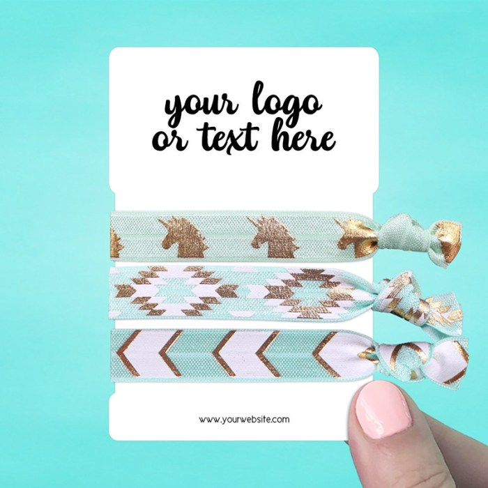 "Set of 34 2.75 x 4"" Rounded Rectangle Hair Tie Display Cards"