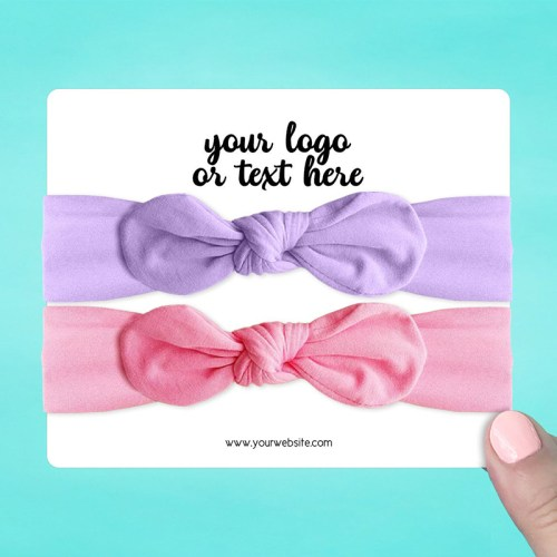 """Set of 24 5.5 x 4.5"""" Rounded Rectangle Hair Band Display Cards"""