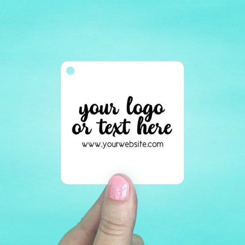 "Set of 45 2.5 x 2.5"" Rounded Square Hang Tags"