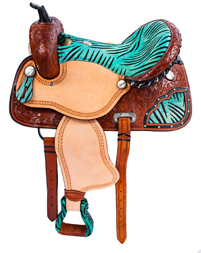 Western Horse Saddle Stool