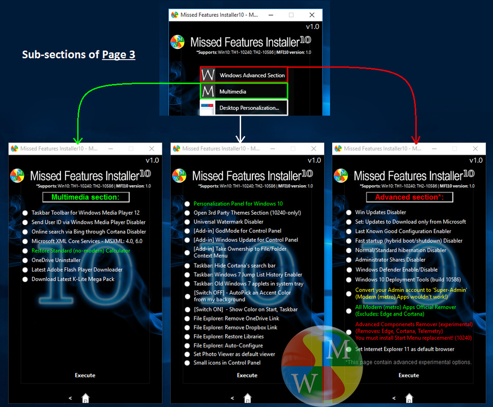 Windows 10 Missed Features Installer10 v1.0 (MFI10)