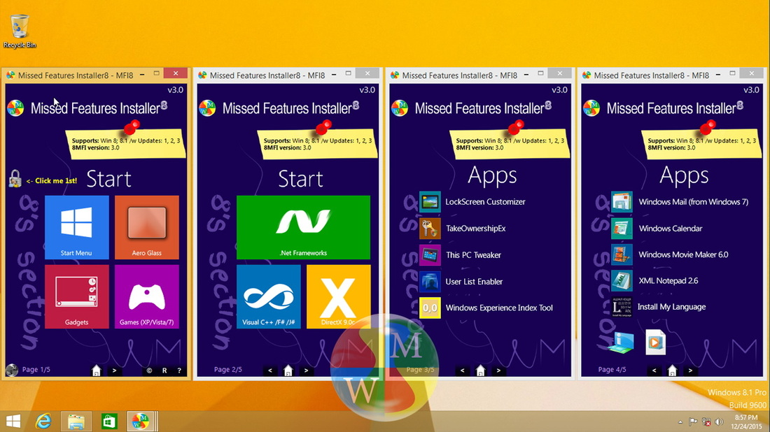 Windows 8 Missed Features Installer8 v3.0