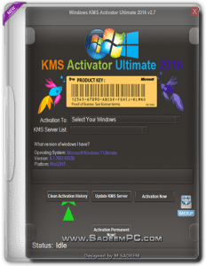 Windows KMS Activator Ultimate 2016 Final