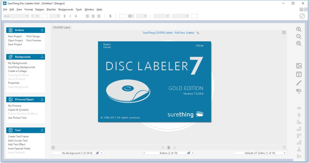 SureThing Disk Labeler Deluxe Gold Crack Serial Key