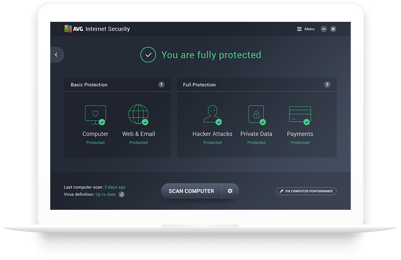 عملاق الحماية AVG Internet Security 2017 17.1.3006 (x86x64) Multilingual+License Key coobra.net