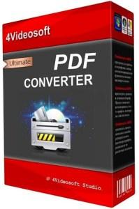 4Videosoft PDF Converter Ultimate Crack Patch Keygen Serial Key