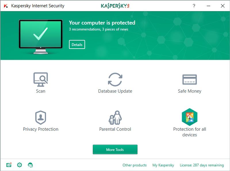 kaspersky internet security trial reset