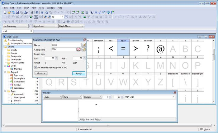 High-Logic FontCreator Professional Crack Serial Key