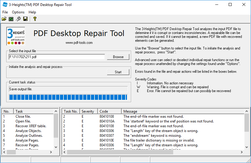 3-Heights PDF Desktop Repair Tool Crack License Serial