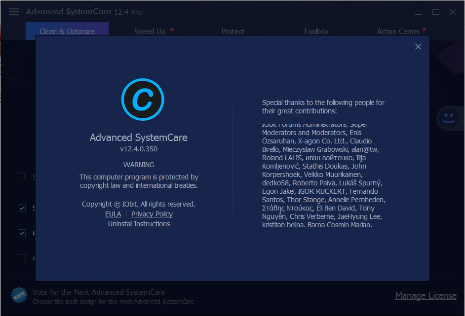 advanced systemcare 11.4 free keys
