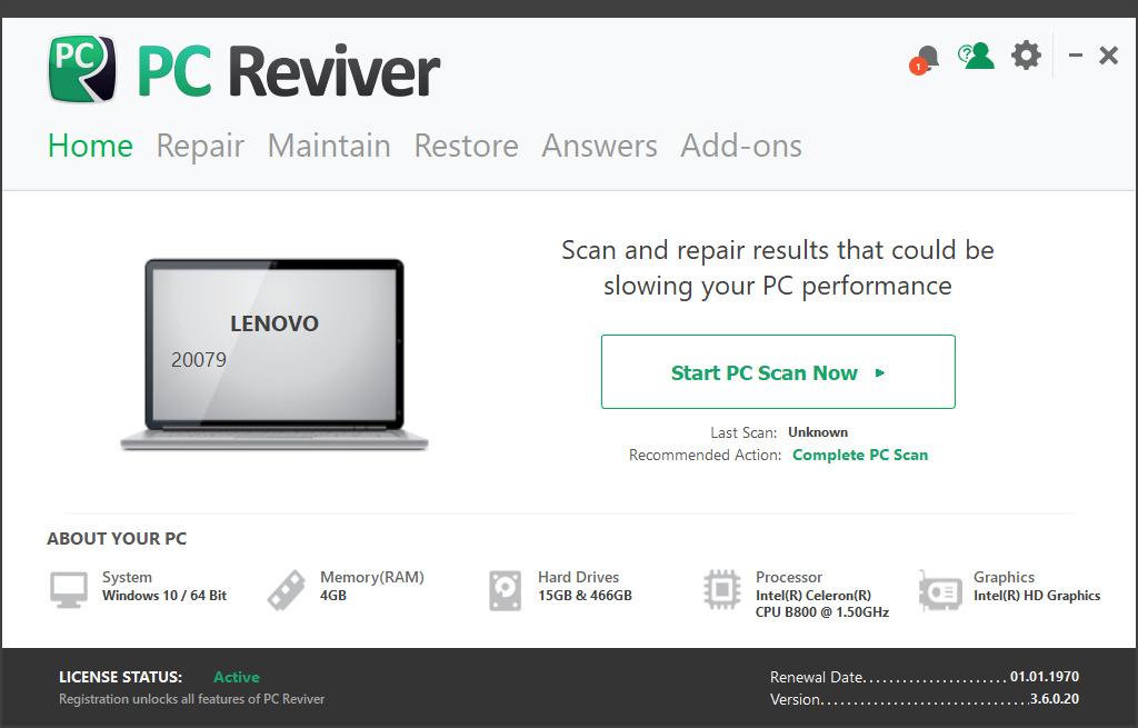 ReviverSoft PC Reviver Crack Serial key