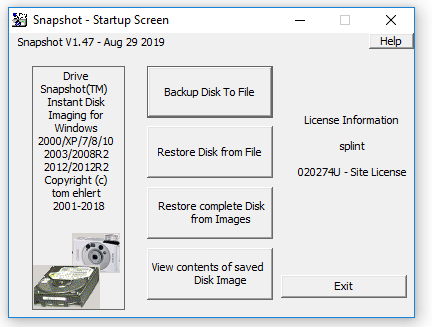 Drive SnapShot Crack Serial Key