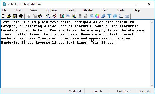 VovSoft Text Edit Plus Crack Serial Key