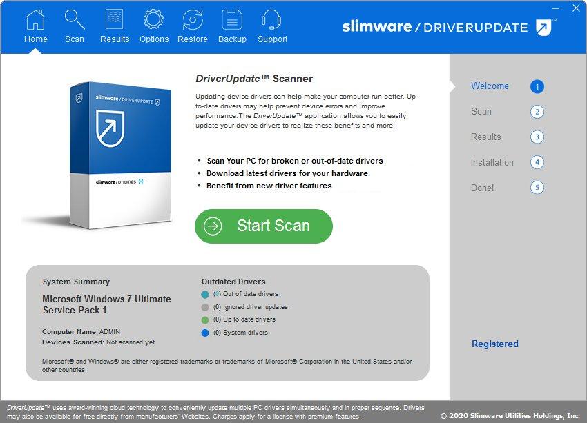 SlimWare DriverUpdate Crack Serial Key