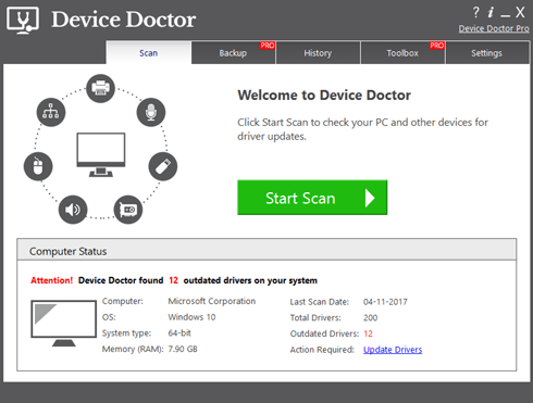 Device Doctor Pro Crack Serial Key