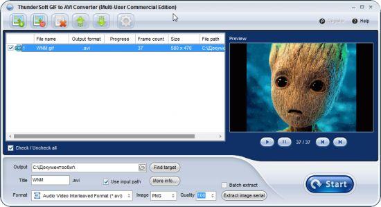 ThunderSoft GIF to AVI Converter Crack Serial Key