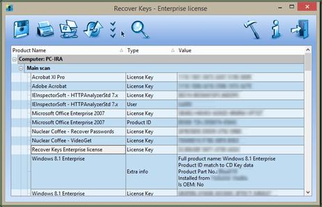 Recover Keys Enterprise License Key