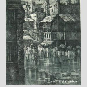 printmaker of Bangladesh , printmaking of dhaka, printmaking artist, uk print making, old dhaka