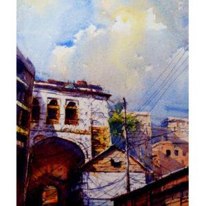 choto katra, boro katra, ruplal house, old dhaka, panam nagar, artist of Bangladesh, watercolor artist of Bangladesh, artist