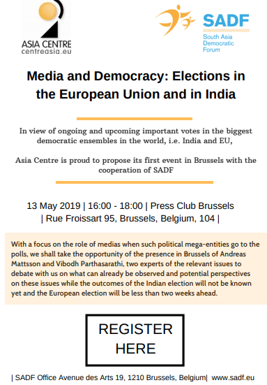, Joint conference 13 May 2019: Media and Democracy: Elections in the European Union and in India