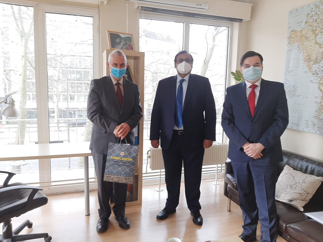 , His Excellency Ambassador Mahbub Hassan Saleh,  Head of Mission-designate of Bangladesh to the European Union, visited SADF on the 18th of January 2021