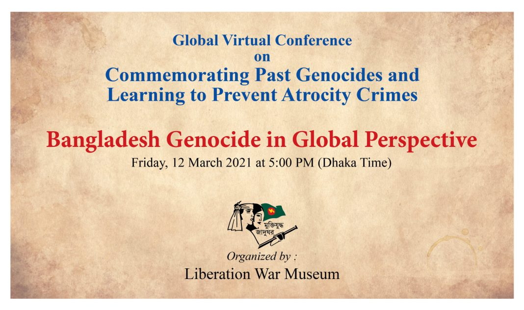 , 'Global Virtual Conference on commemorating past genocides and learning to prevent atrocity crimes'