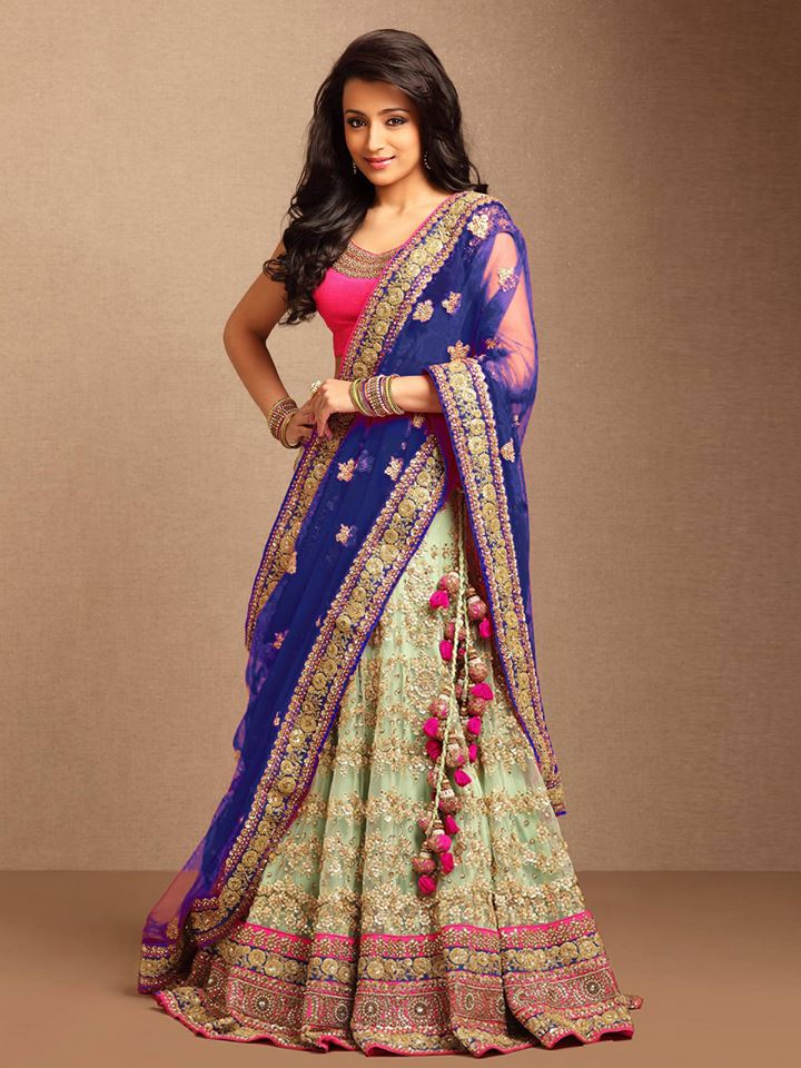 A wedding choli saree