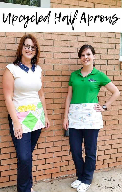 How to make a waist apron from a vintage pillowcase