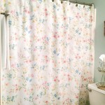 Floral Shower Curtain For A Cottage Bathroom From Vintage Bed Sheets