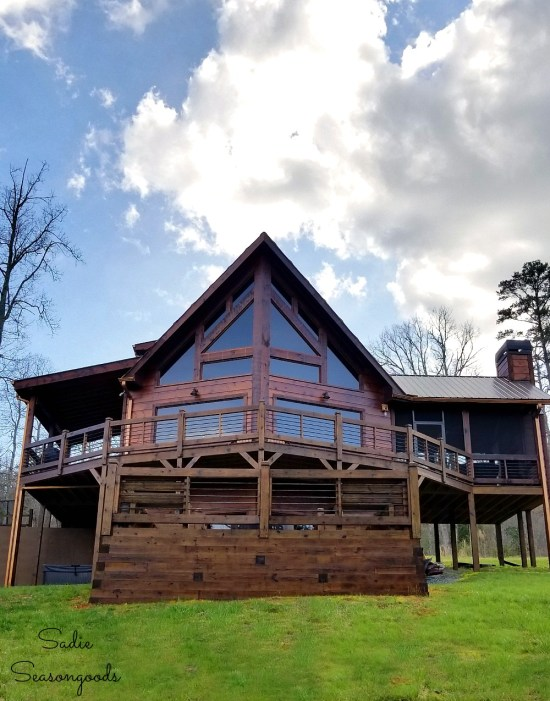 Mountain cabin in the North Georgia Mountains near Blue Ridge GA called Down by the River by Sadie Seasongoods