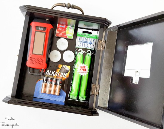 Power Outage supplies in a blackout kit