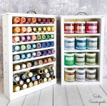 Craft Paint Storage in Wooden Drawers