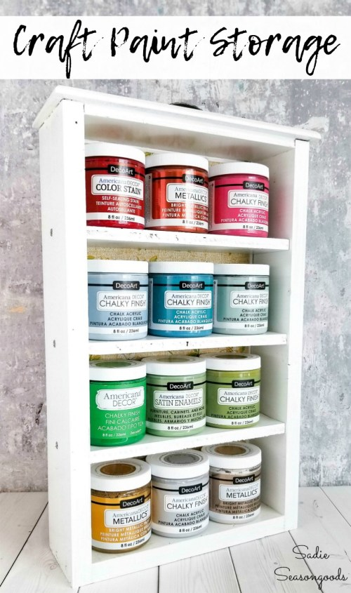 How to repurpose a wooden drawer as craft paint storage