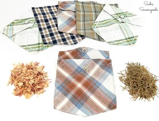 Cedar chips and balsam fir needles for drawer sachets