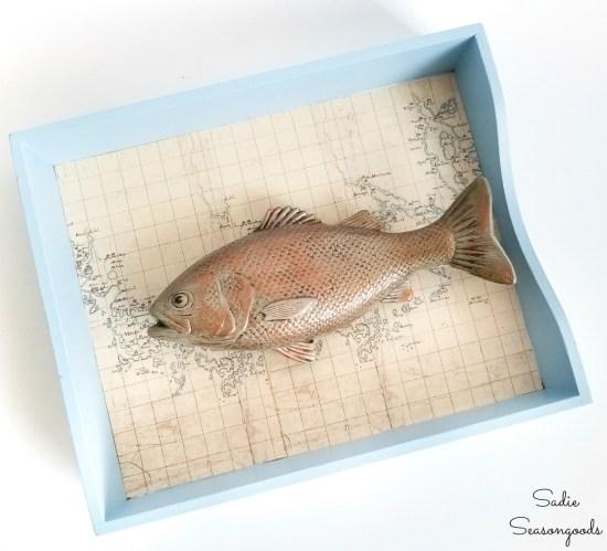 Lake house decor with freshwater fish wall art