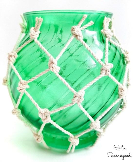 Nautical glass balls for coastal home decor