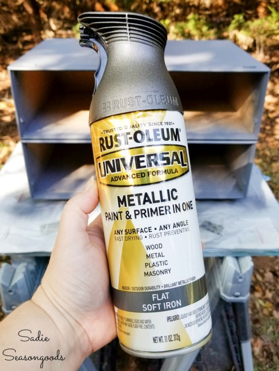Spray paint color for an industrial side table