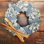 Upcycling a Christmas Wreath into a Winter Wreath