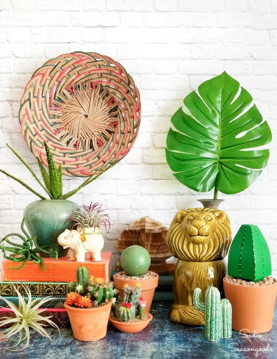 Upcycling ideas for Boho room decor with thrift store decor